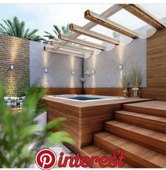 40 Lovely Jaccuzzis Ideas - When people refer to a hot tub or a spa, they often think of the word Jacuzzi. The terms are often used interchangeably but Jacuzzi is actually a bran. Hot Tub Gazebo, Hot Tub Deck, Hot Tub Backyard, Hot Tub Garden, Garden Gazebo, Backyard Patio, Backyard Landscaping, Landscaping Design, Terrace Garden