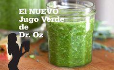 El Nuevo Jugo Verde de Dr. Oz La receta original del Jugo Verde de Dr. Oz que compartió con el mundo en Oprah, ha sido endulzada un poco para las personas que ahora empiezan a tomar jugos verdes.