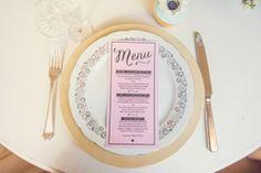 matching pink menus
