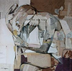 Magem, Carme; His works made with collage worked off harmony and femininity.