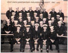 Photos of the USS Eldridge crew from the Philadelphia Experiment