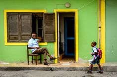 Street in Sal Rei, Boa Vista island - Cape Verde #Kaapverdie