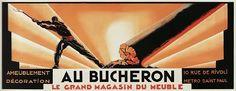 Cartaz para a loja de móveis Au Bucheron 1923