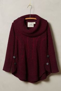 Angel of the North Cabled Boucle Pullover #anthrofave
