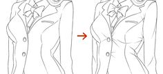 "Lol. ""How to draw a jacket that is too small for the figure."""