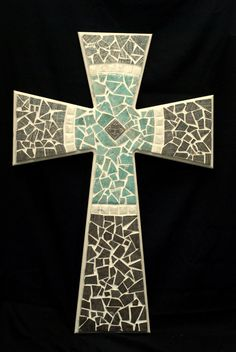 Mosaic Cross 36 x 24 Cross Within Cross by 3RiversDesign on Etsy, $135.00
