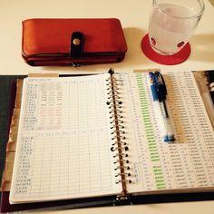 こちらは左が給与明細書の記録、右が毎月天引きされる貯金の一覧表。マイホームの購入計画を立てているというづんさん、収入についての質問にも答えられるように準備されているそうです♪ Financial Planner, Study Tips, Saving Tips, Life Hacks, Notebook, Instagram, Journaling, Addiction, Money