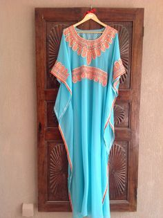 """I LOVE ETSY Kaftan chiffon long maxi dress""..this isnt a maxi dress. This is an arabic dress like we call kalabiya"