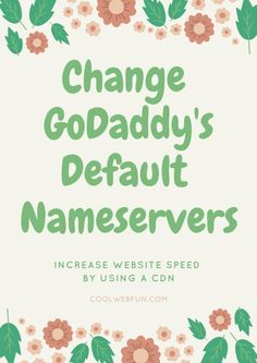 How to change nameservers in GoDaddy or other CPanel? Take the easy path to change nameservers from default to custom nameservers & speed up wordpress http://www.coolwebfun.com/change-nameservers-godaddy/