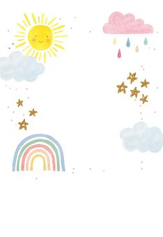 'Rainbow Magic' - Birthday card template you can print or send online as eCard for free. Birthday Card Template, Birthday Card Design, Greeting Card Template, Rainbow Magic, Rainbow Card, Birthday Thank You Cards, Birthday Greeting Cards, Rainbow Invitations, Party Invitations Kids