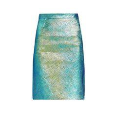 Milly NY Hologram Edith Pencil Skirt