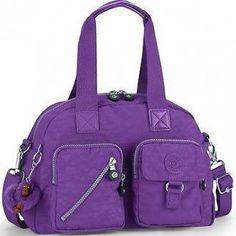 Kipling Defea Hand / Shoulder Bag Brilliant Purple Rrp $112