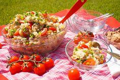 Lehký těstovinový salát s tuňákem Food And Drink, Vegetables, Ethnic Recipes, Fitness, Vegetable Recipes, Veggies
