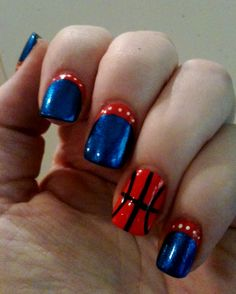Okc thunder nails my nail art pinterest thanks again patti for my okc thunder nails you are an artist prinsesfo Images