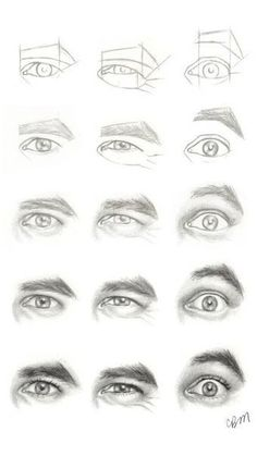 Realistic Drawing Tips Character Design Collection: Eyes AnatomyCharacter Design Collection: Eyes Anatomy Eye Sketch, Drawing Sketches, Pencil Drawings, Art Drawings, Drawing Faces, Drawing Hair, Pencil Art, Pencil Sketching, Anatomy Sketches