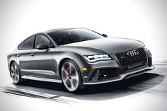 The RS7 Dynamic Edition (starting at $146,045 this summer) goes nuts with high-end upgrades, including crimson red stitching on the leather sport seats and throughout the leather interior; an infusion of carbon fiber, including the front splitter, rear diffuser and engine cover; 21-inch gloss black wheels; DRC suspension; and a new sport exhaust. Under the hood it's still the RS7′s 4.0-liter twin-turbocharged V8 that generates 560 horsepower and 516 pound-feet of torque via an eight-speed…