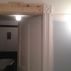 Top of architrave