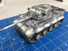 Building and weathering The Tamiya 1/35 Tiger 1 with snow camouflage - YouTube