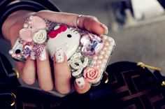 old phone case handmade by me ~ #japanese #cute #girly