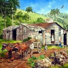 Beautiful Paintings, Beautiful Landscapes, Arecibo Puerto Rico, Puerto Rico History, Puerto Rican Culture, Caribbean Art, Watercolor Pictures, Black Artwork, Tropical Art