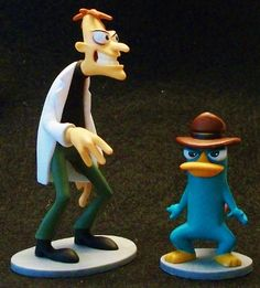 Phineas And Ferb Cake Topper Figures