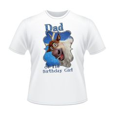 Disney Frozen Iron On Transfer Dad of the Birthday by IWannaParty, $3.00
