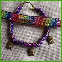 Anklets. Macrame. Beads. Buddha. Spirit. Boho. Handmade