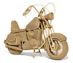 "MOTORRAD ""Harley Davidson"". Entwurf für Habitat. Ratan."