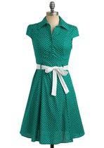 Love this color! Mod Cloth dress
