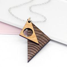 Triángulo mínimo collar regalo día de la madre mezcla de