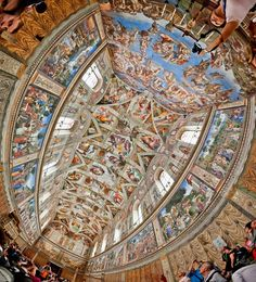 ITALY Sistine Chapel ceiling, Vatican City The Sistine Chapel ceiling, painted by Michelangelo between 1508 and is a cornerstone work of High Renaissance art. Le Vatican, Italy Vacation, Italy Travel, Rome Florence, Sistine Chapel Ceiling, Naples Italy, Sorrento Italy, Capri Italy, Sicily Italy