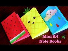 Mini A4 Notebooks (No Glue/No Stapler) - YouTube