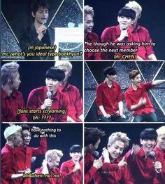 Baekhyun making a huge misunderstanding because his Japanese isn't that good
