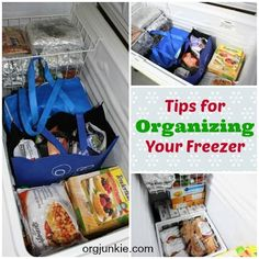 Tips for Organizing Your Freezer at orgjunkie.com