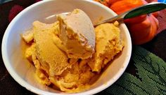 This ice cream is perfect for the fall season. And the best part? Your milk-guzzling friends will have no clue that it's dairy free. It is creamy and tastes like frozen pumpkin pie!