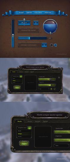 https://www.behance.net/gallery/15848741/2-Game-GUIs