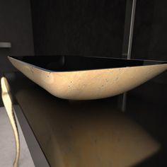 Nek Lux Sink Black Gold
