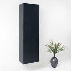 Modern Black Bathroom Linen Side Cabinet https://www.studio9furniture.com/bathroom/linen-cabinets/fresca-black-bathroom-linen-side-cabinet-w-3-large-storage-areas  This cabinet has 3 large storage areas for additional space for your things.