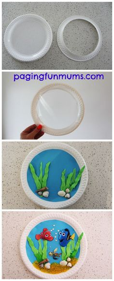 Finding Nemo Inspired Paper Plate Porthole craft