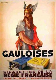 Publicité cigarettes Gauloises #pub #vintage #retro