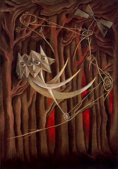 Tightrope walkers - Remedios Varo - WikiPaintings.org