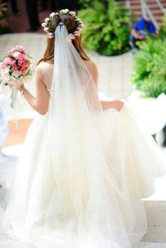 Soft chiffon wedding gown ♡♡