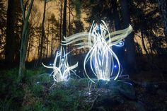 In-Camera Light Paintings by Hannu Huhtamo Sprout in the Darkness Like Alien Blooms
