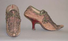 FCBTC / Slippers: ca. 1720-1739, French, leather, silk.