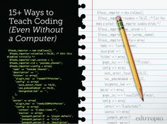 15 Ways of Teaching Every Student to Code (Even Without a Computer) Engineering Science, Computer Engineering, Science Education, Computer Science, Computer Class, Computer Coding, Computer Programming, Basic Programming, Teaching Technology