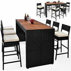 SAM de jardin PALAOS - Table extensible, 6 chaises - Gris | Jardin ...