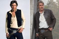 Harrison Ford (Han Solo) then and now