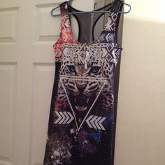 Galaxy tiger dress Never worn still has tags Dresses