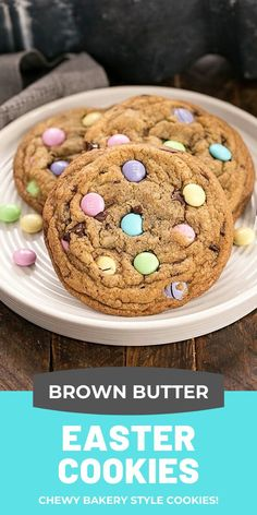 Extra Large Bakery worthy Easter Cookies with Brown Butter! Plus lots of tips to make perfect cookies at home! Extra Large Bakery worthy Easter Cookies with Brown Butter! Plus lots of tips to make perfect cookies at home! Kid Desserts, Easy No Bake Desserts, Easy Cookie Recipes, Easter Recipes, Holiday Recipes, Baking Recipes, Baking Desserts, Cookie Ideas, Recipes Dinner