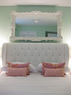 mint and coral room.